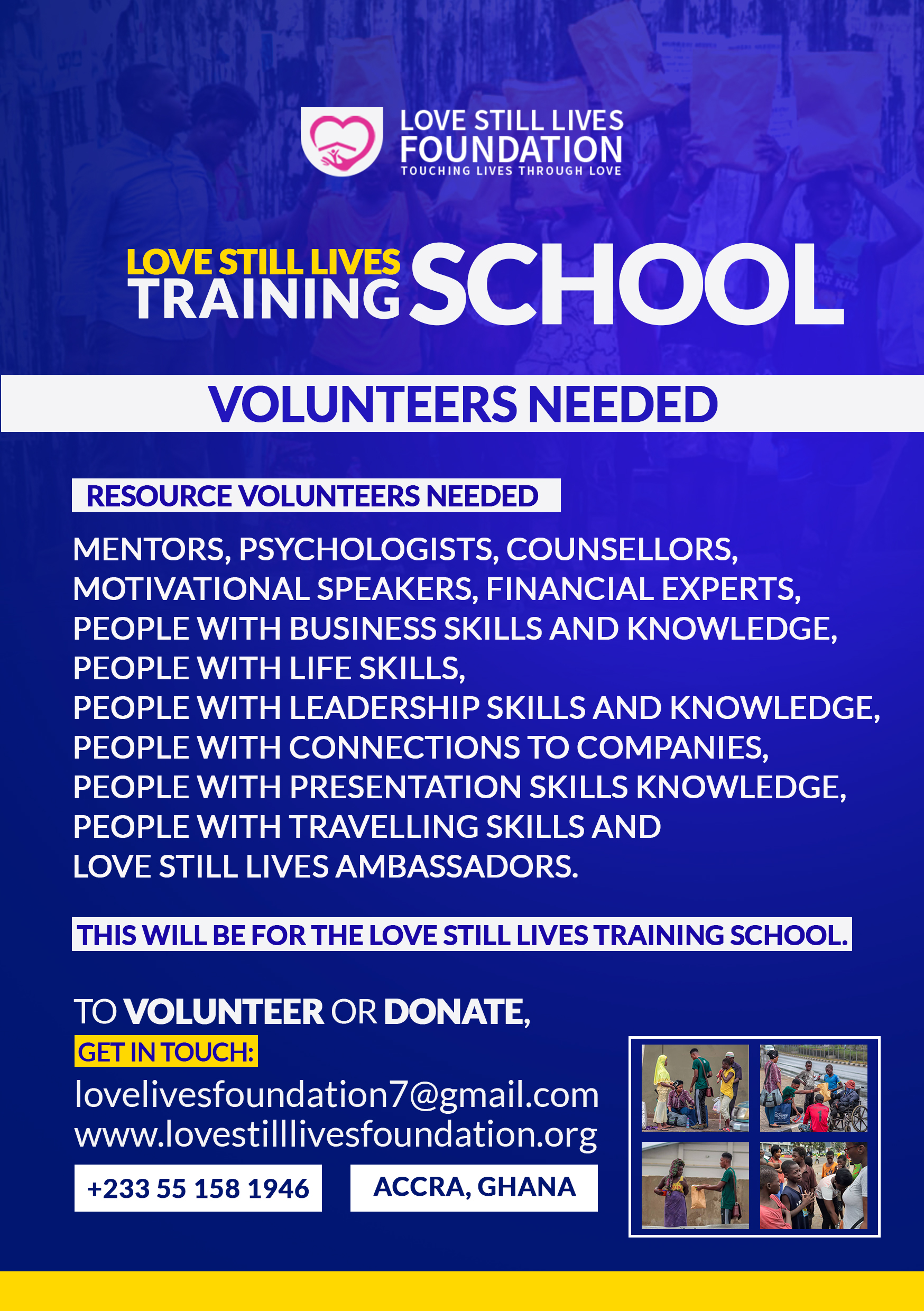 Volunteers for Training School